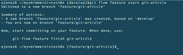 Git flow demo