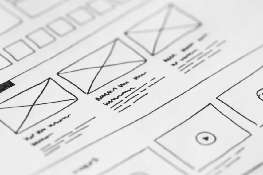 Wireframes for user experience design