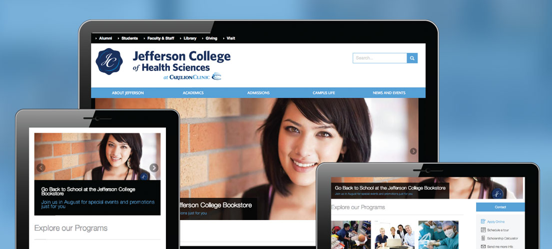 Jefferson College Of Health Sciences - Zivtech Case Studies | Jefferson College of Health Sciences