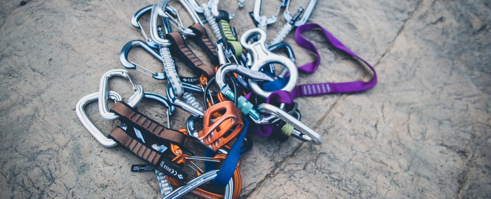 Climbing hooks and carabiners