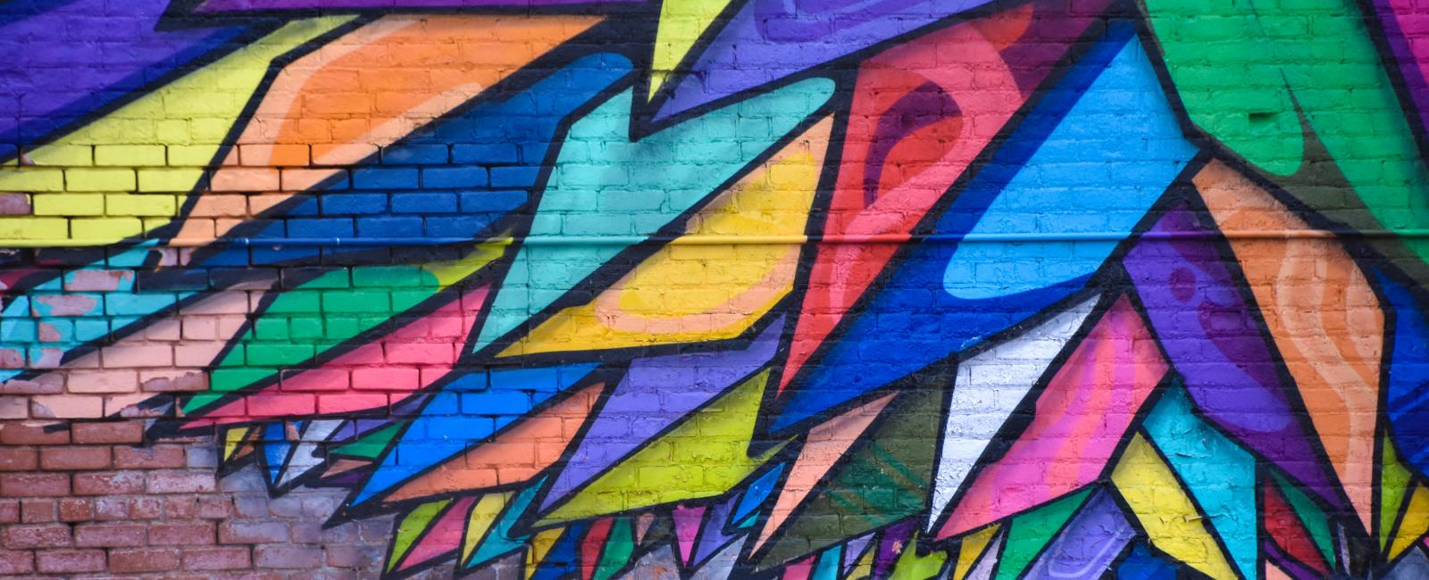 Mural on bricks