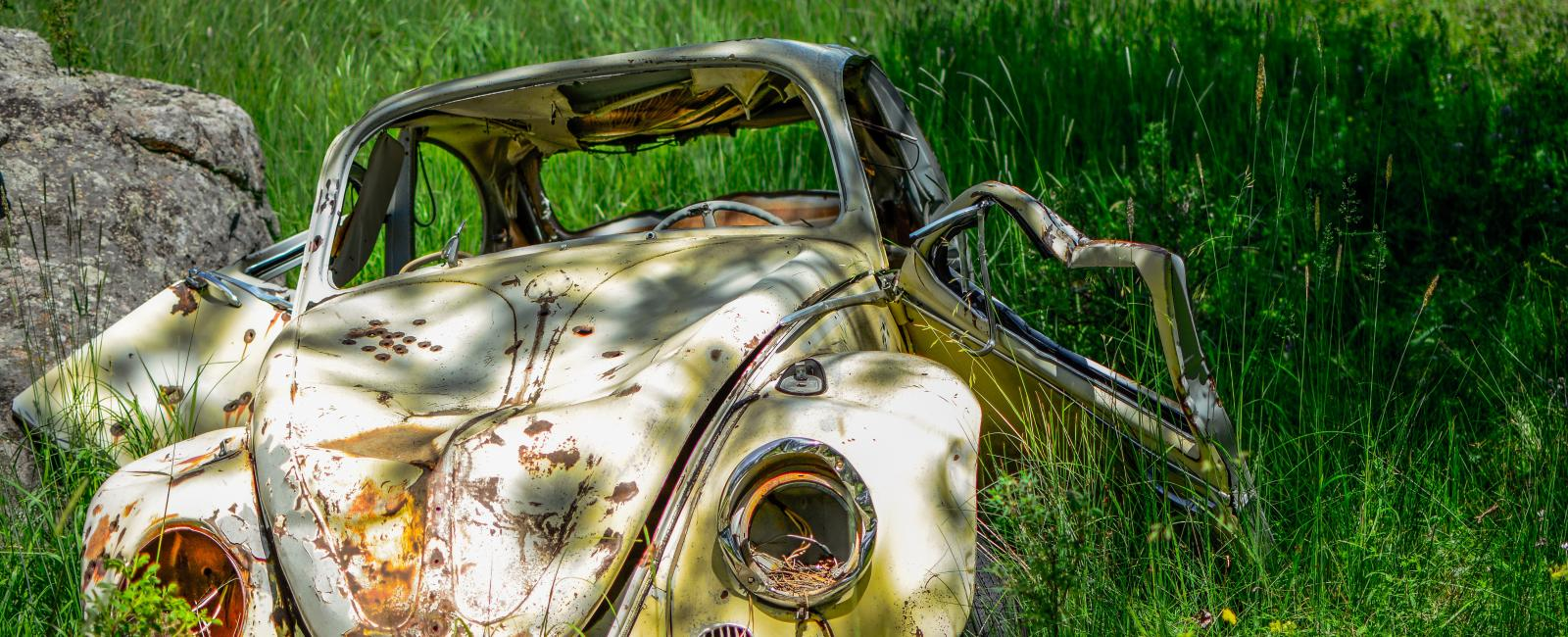 Abandoned Volkswagon beetle