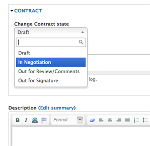 Custom Workflow for Contracts